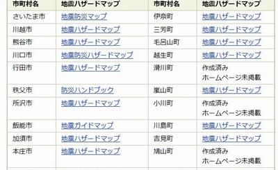 埼玉県 ハザードマップ リンク2