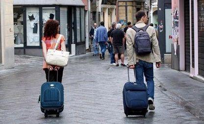 カップルかもしれない旅行者